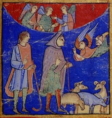 Stanza 4 Tidings To Shepherds Eadwine Psalter Folio 1r