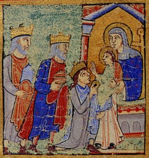 Stanza 7 Gifts Of Magi Eadwine Psalter Folio 1r