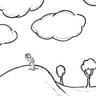 The Stranger Viewing The Clouds By MAP