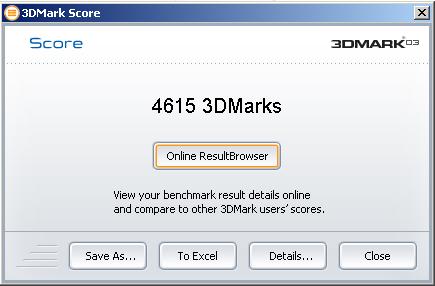 3DMark03 OC