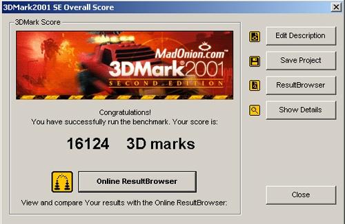 3DMark2001 OC