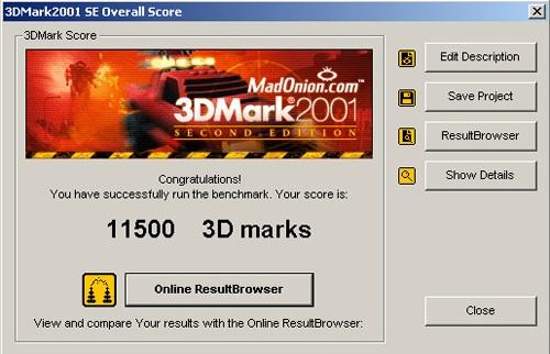 3DMark2001 XT