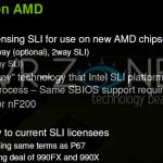 Chipset AMD 990FX y 990X soportarían SLI, según NVIDIA