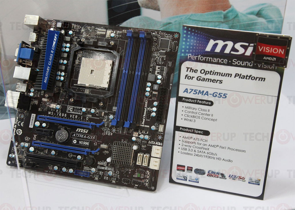 MSI A75A-G55 OverClocking Center Drivers PC