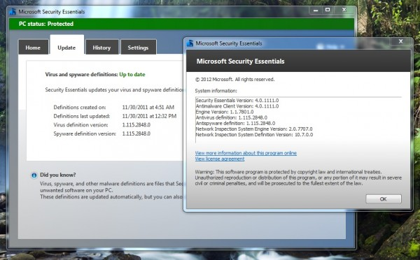 winwos security essentials beta 4