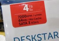 Hitachi Deskstar de 4TB ahora en 7200RPM y 64MB de Buffer