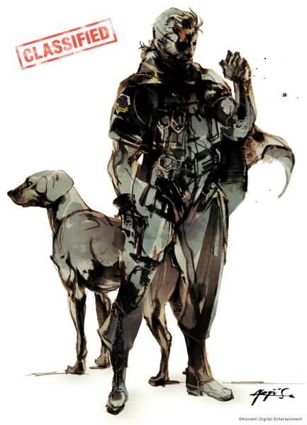 Big Boss con el logo de Diamond Dogs en el hombro