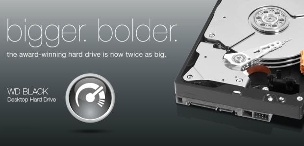 Western Digital Caviar Black ahora disponible con 4TB de capacidad.