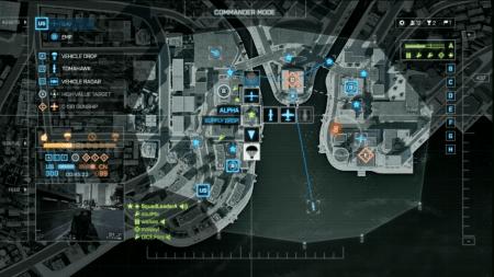 El modo comandante da la posibilidad a un jugador de brindar soporte. A diferencia de Battlefield 2, Aqui a medida que vas conquistando nuevos puntos, tendrás nuevos accesos a nuevas armas.