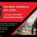 APU13: AMD anuncia Kaveri (Steamroller + GCN) para el 14 de enero