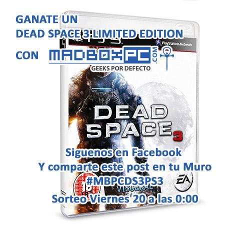 Concurso Facebok MadBoxpc.com Dead Space 3 Limited Edition