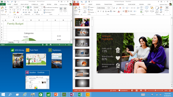 Windows10_Tech-Preview_Three-program-snap-and-suggestions