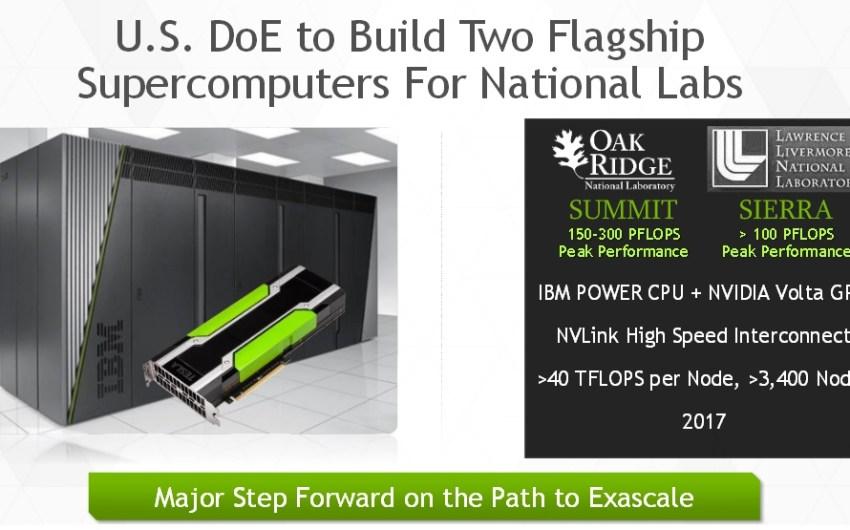 NVIDIA e IBM potenciarán en el 2017 SúperComputadores de hasta 300 PetaFlops