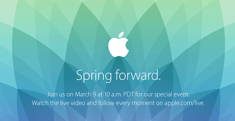 "Evento de Apple ""Spring Forward"" para el 9 de Marzo"