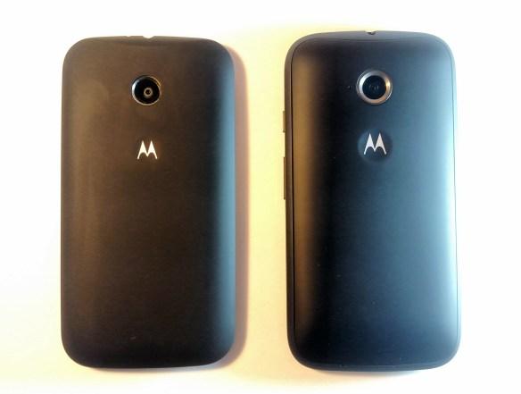 En la izquierda tenemos al Moto E de primera generación, mientras que en la derecha esta el nuevo Moto E de segunda generación