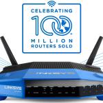 LINKSYS logra un nuevo hito en la industria  es el primero en vender más de 100 millones de routers.