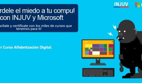 Injuv y Microsoft dejan a la disposición de jovenes 250 mil cupos para cursos online.