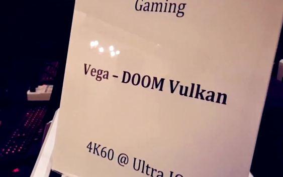 AMD VEGA: Más de 60 FPS en DOOM con resolución 4K