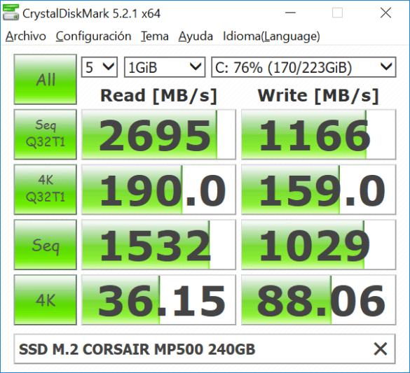 CORSAIR MP500 SSD M.2