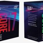Se dejan ver las nuevas cajas de los CPU Intel basados en Coffee Lake