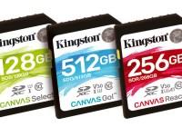 Kingston Digital anuncia nueva serie de tarjetas flash 'Canvas'