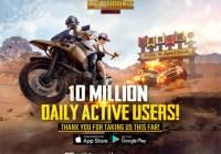 PUBG Mobile alcanza los 10millones de usuarios activos diariamente
