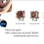 Noctua presenta silenciosos sistemas de refrigeración para plataformas LGA3647 Intel Xeon