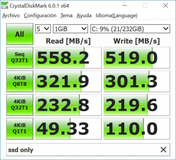 SSD sin StoreMi