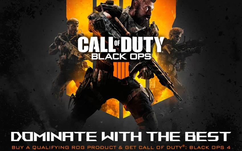 ASUS Republic of Gamers Anuncia asociación con Activision para Call of Duty BlackOps 4
