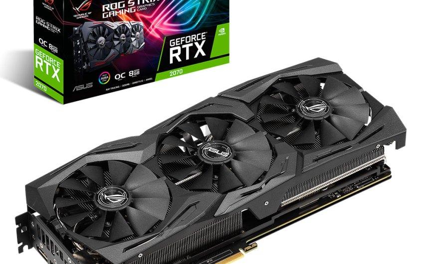 ASUS Anuncia sus tarjetas Gráficas ROG Strix, Dual, y Turbo GeForce® RTX 2070