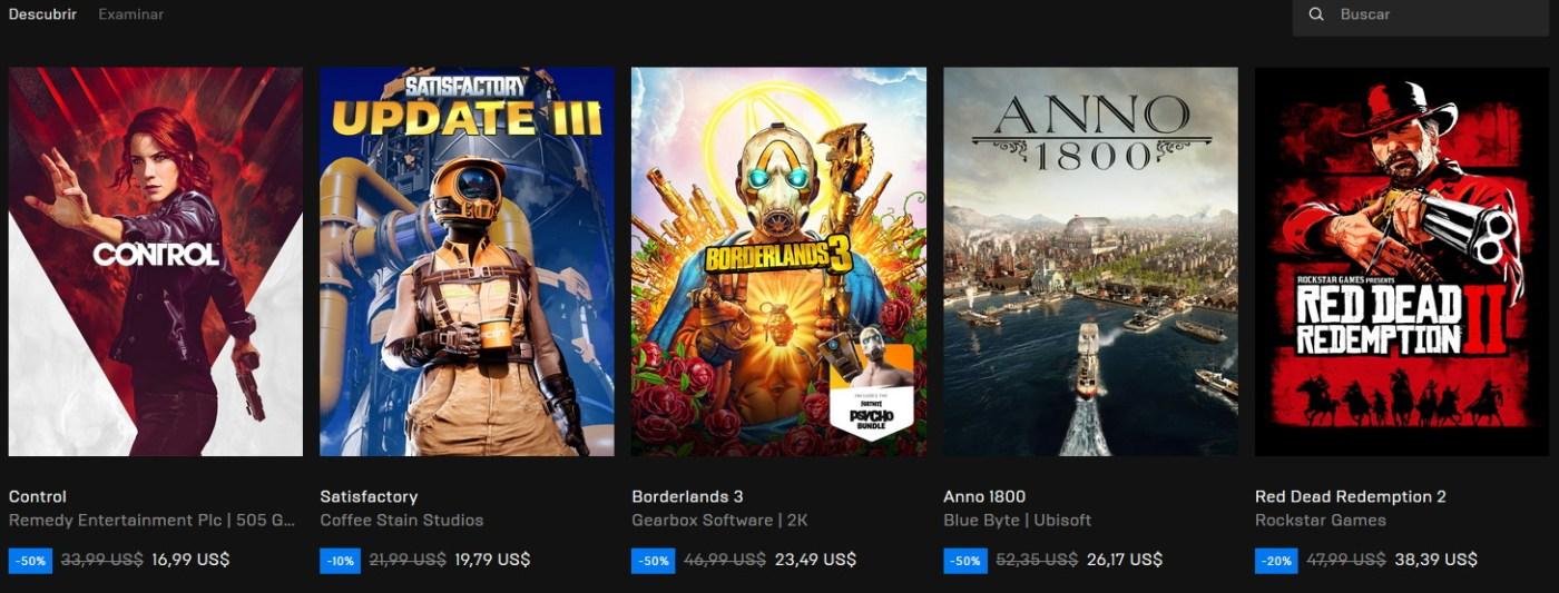 Epic Games Descuentos