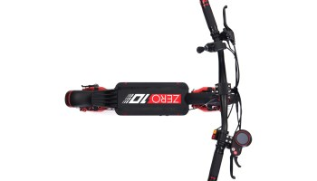 zero 10x handlebar and deck from top