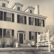 Black and white photo of the Weir House