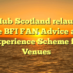 Film Hub Scotland relaunches free BFI FAN Advice and Experience Scheme for Venues