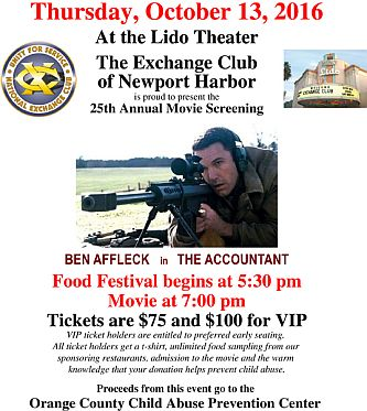 Movie Benefit Flyer 2016 - The Accountant SNIPER