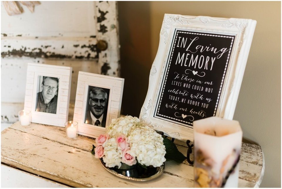 In Loving Memory of Table at Wedding Reception | Maddie Peschong Photography