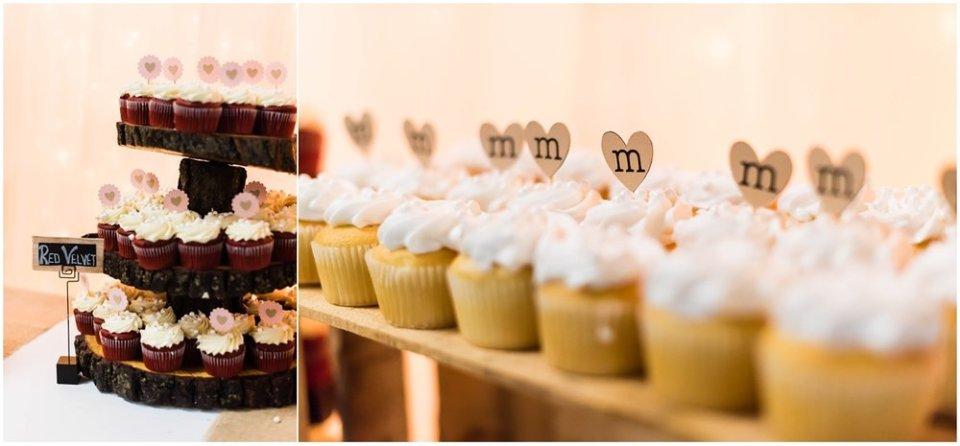 Wedding reception cupcake bar | Maddie Peschong Photography