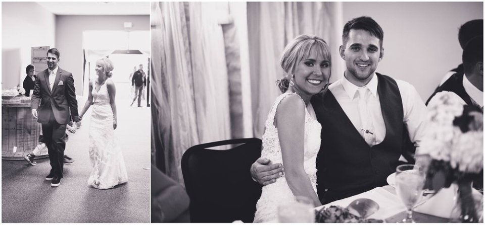 Black and white wedding reception photos | Maddie Peschong Photography