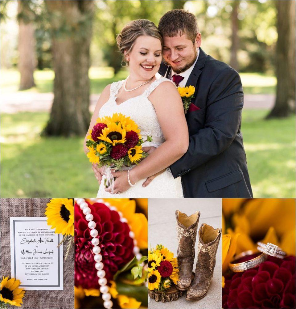 South Dakota Fall Sunflower Wedding by Maddie Peschong Photography