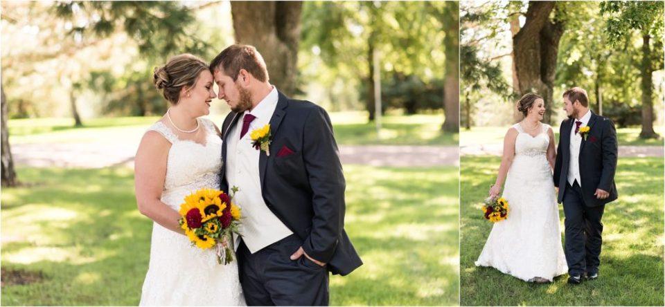 bride and groom south dakota fall wedding