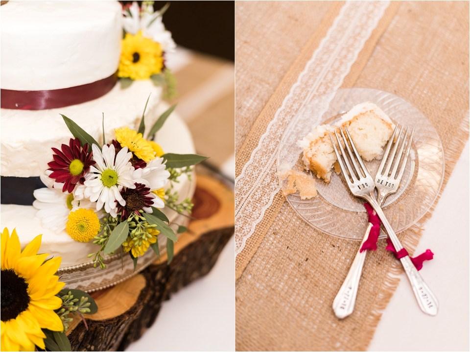 wedding cake and forks