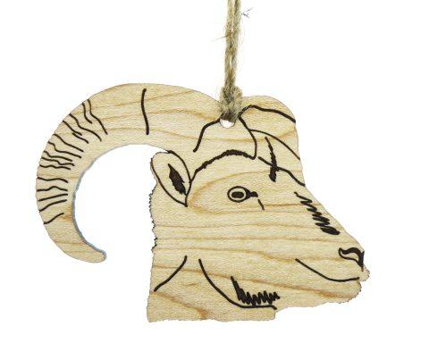 Bighorn Sheep Maple Hardwood Ornament