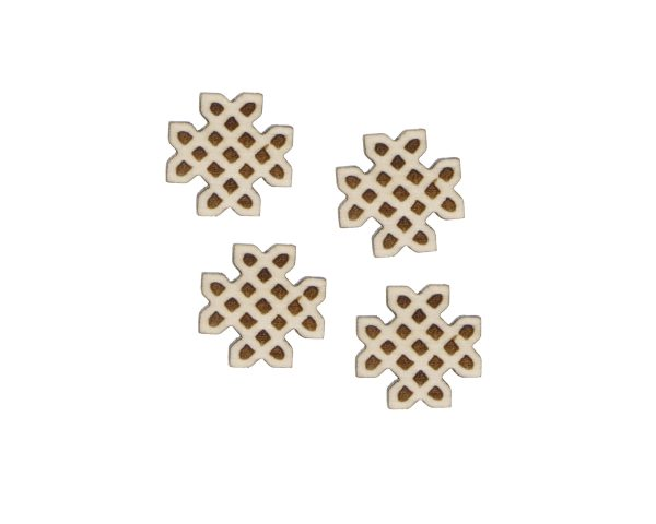 Celtic Knots 03 Engraved Wood Cabochons