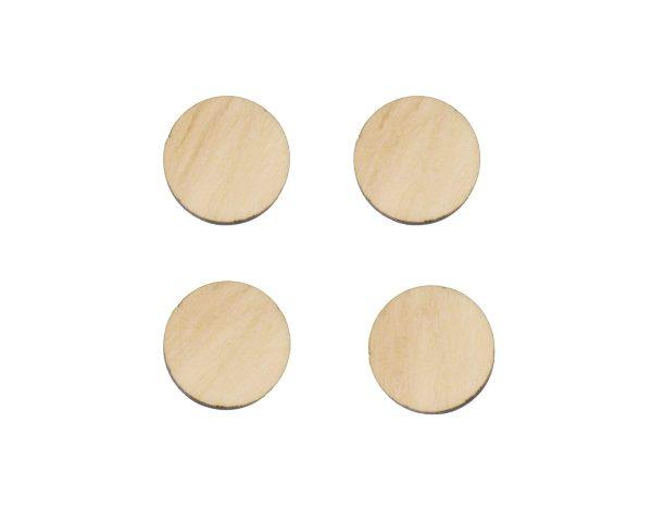 Circles blank Wood Cabochons