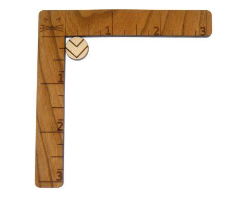 Geometric Chevron Circle Engraved Wood Cabochons