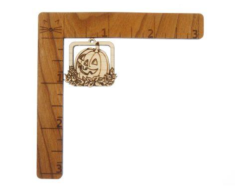Jack O Lanterns Engraved Wood Drop Charms