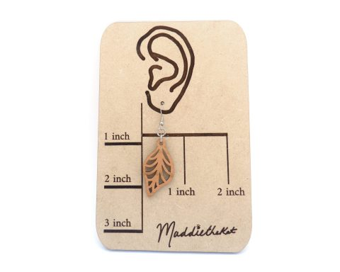 Leaf Cherry Hardwood Earrings