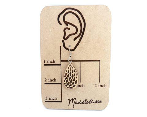 Petals Dangle Wood Earrings | Hand Drawn