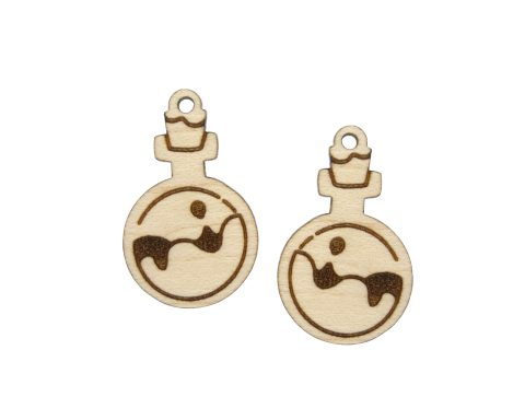 Potions Engraved Wood Drop Charms