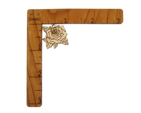 Roses Engraved Wood Drop Charms